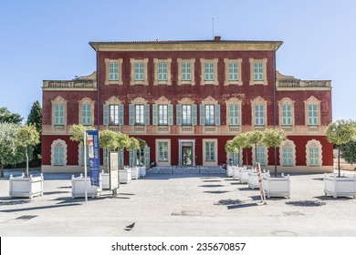 NICE, FRANCE - JULY 11, 2014: Matisse museum (Musee Matisse de Nice) devoted to work of French painter Henri Matisse, located in Villa des Arenes in Cimiez neighborhood. Museum opened in 1963.