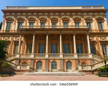 Nice, Nice / France - July 29 2019: Fine Arts Museum exterior facade architecture travel sunshine summer holiday