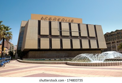 NICE, FRANCE - MAY 2: Palace of Arts, Tourism and Congresses, Acropolis (Palais des Congres Acropolis) on May 2, 2013 in Nice, France. It was inaugurated in May 1985.
