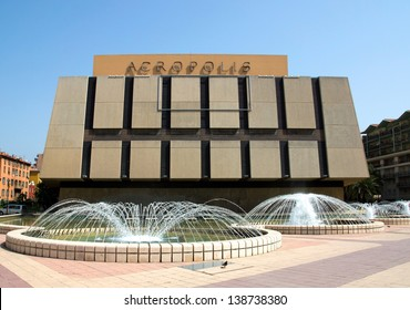 NICE, FRANCE - MAY 3: Palace of Arts, Tourism and Congresses, Acropolis (Palais des Congres Acropolis) on May 3, 2013 in Nice, France. It was inaugurated in May 1985.