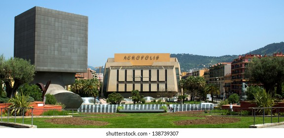NICE, FRANCE - MAY 3: Palace of Arts, Tourism and Congresses, Acropolis (Palais des Congres Acropolis) on May 3, 2013 in Nice, France. It was inaugurated in May 1985