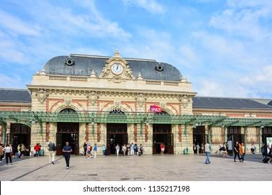 Nice / France — September 24, 2016: gare de Nice-Ville, the main railway station of Nice, France