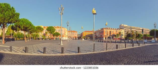 Nice, France - September 25, 2018: Place Massena