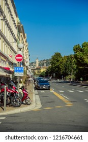 Nice, France - September 26, 2018: One of the town street