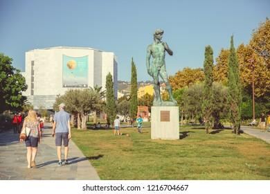 Nice, France - September 26, 2018: Square General Leclerc