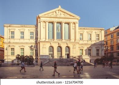 Nice, France - September 26, 2018: City Courthouse
