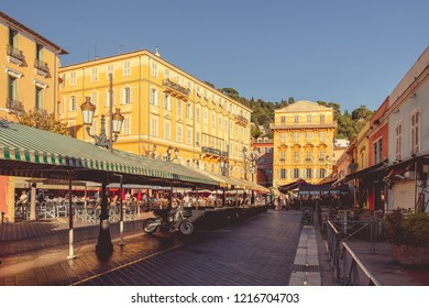 Nice, France - September 26, 2018: City Market