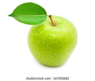 Nice fresh apple isolated on white background