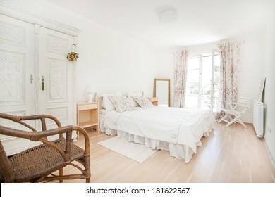 nice and fresh bedroom full of light