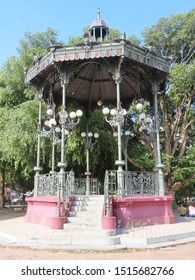 nice gazebo in the middle of a public square in manaus