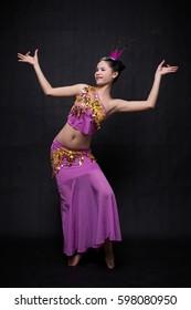 A nice girl is dancing