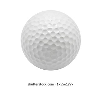 Nice Golf ball isolated on white background