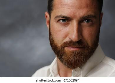 Nice, handsome man with beard