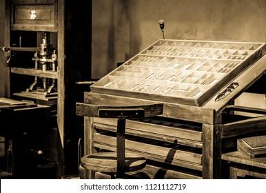 nice historic print office - photo