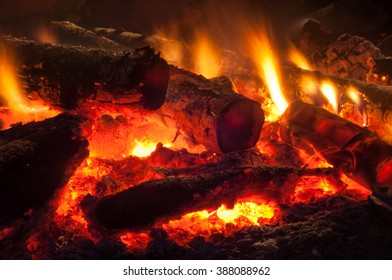 nice home fire in the fireplace, home photo