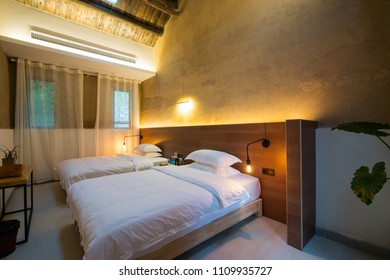 nice hotel guest room with modern decoration