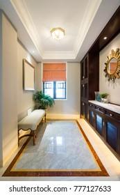 nice house interior with luxury decoration