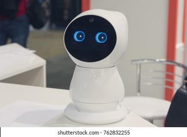 Nice house robot on the table. Electronics