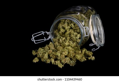 Nice Image of 4 Oz of Super fresh medical Grade Indica Marijuana on Black