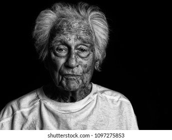 Nice Image Of a 92 Year Old man On Black