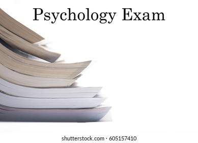Nice Image of Books with Text - Psychology Exam