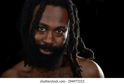 Nice Image of a Handsome Afro American Man
