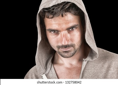 Nice Image of a Handsome Man in Hoodie