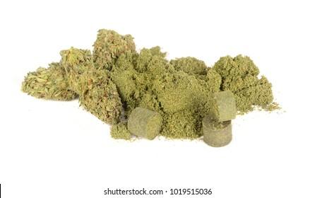 Nice Image of legal Marijuana,keif,pollen and hashish