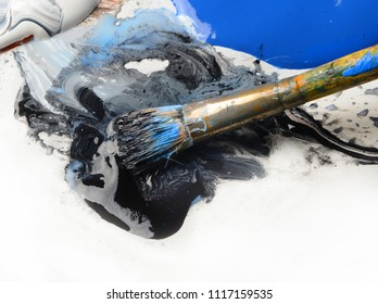 Nice Image of painting supplies on a Pallet
