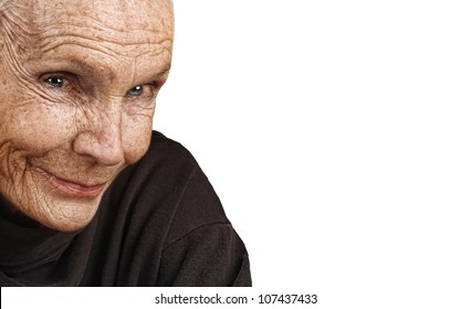 Nice Image of a peaceful Elderly Woman