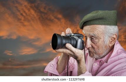 Nice Image Of a Senior Landscape Photographer