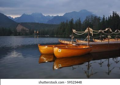 nice lake in hight mountains