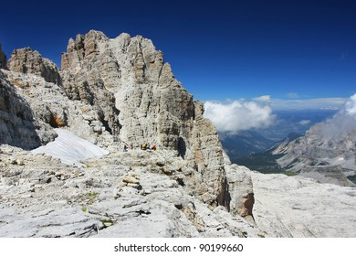 A nice landscape view in Dolomiti mountains - Dolomity di Brenta, Italy