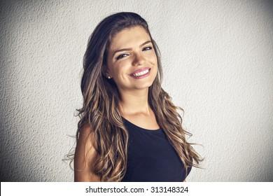 Nice latin girl smiling