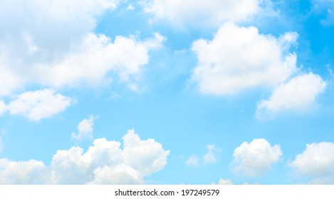 Nice Light sky with cloud ,blue sky.