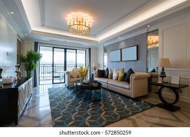 nice living room with nice decoration