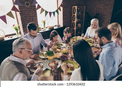 Nice lovey sweet friendly cheerful cheery family small little brother sister enjoying festive event party gathering meeting served dishes morning day in decorated loft industrial interior