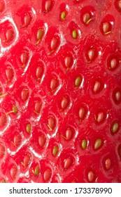 Nice macro photo of red sweet strawberriy