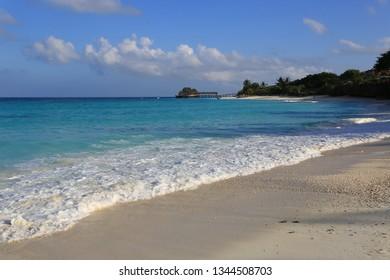 Nice morning scene on ocean shore