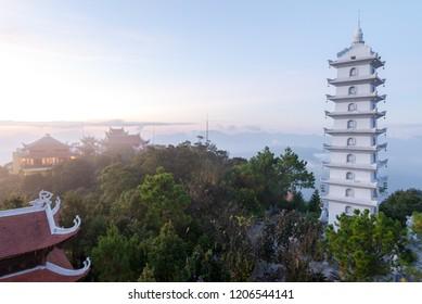Nice mountain landscape sunset view from Ba Na Hill, Da Nang Vietnam Sep 2018