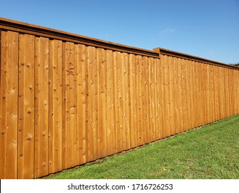 Nice new wooden fence background