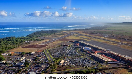 A nice overlook of OGG airport on Maui, Hawaii