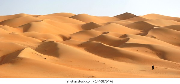 Nice panorama shoot for UAE Abu Dhabi desert with very nice black shadows