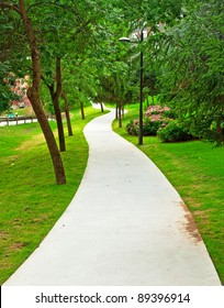 Nice park in the city