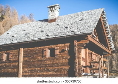 a nice place for relaxed holidays in mountain - traditional stone roof tiles