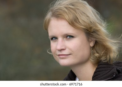 nice portrait of attractive woman