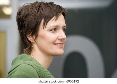 Mature redhead wife hotel window flash