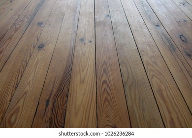 Nice retro spruce floorboards 90 years old after sanding. treated with oil