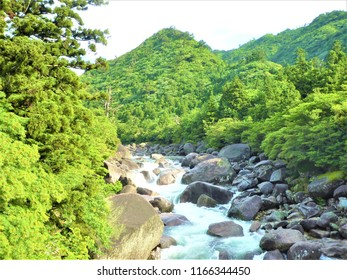 Nice river view in yakushima japan