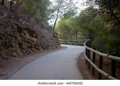 Nice road to beacon in Albir. Road to El Faro Albir